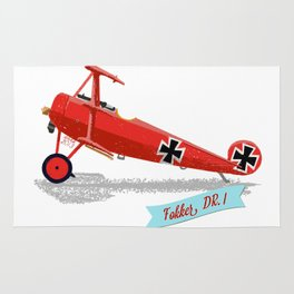 Red Baron's Fokker Dr.I Rug