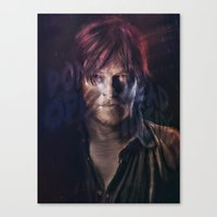 daryl dixon Canvas Prints featuring Daryl Dixon by Guilherme Marconi