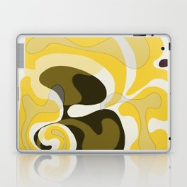 Yellow and Black Abstract Laptop & iPad Skin