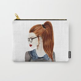 Ebba fashion illustration girl  Carry-All Pouch