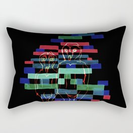 Glitching Owls Rectangular Pillow