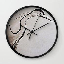 Japanese Crane #society6 #decor #buyart Wall Clock
