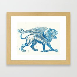 Gryphon-Blue Framed Art Print