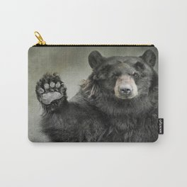 Black Bear Greeting Carry-All Pouch