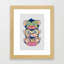 Hear no evil, Speak no evil, See no evil Framed Art Print