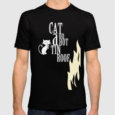 CAT ON A HOT TIN ROOF Black MEDIUM Mens Fitted Tee