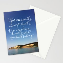 You Are Exactly Where You Should Be: Sand Dunes Stationery Cards