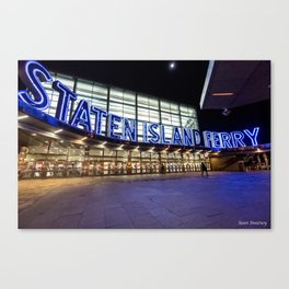 Staten Island Ferry Sign (Image is cropped here) Canvas Print