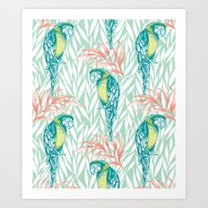 Tropical Pastels Art Print