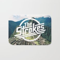 The Strokes Logo Machu Picchu Bath Mat