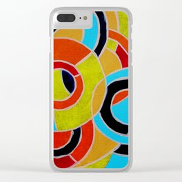 Composition #22 by Michael Moffa Clear iPhone Case