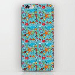 Cute Kids Ocean Sea Life Marine Pattern iPhone Skin