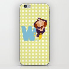 w for witch iPhone & iPod Skin