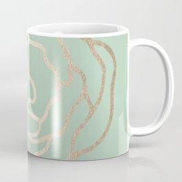 Rose White Gold Sands on Pastel Cactus Green Coffee Mug