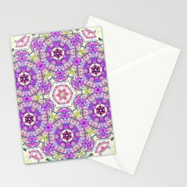 Purple Flower Bouquet Stationery Cards