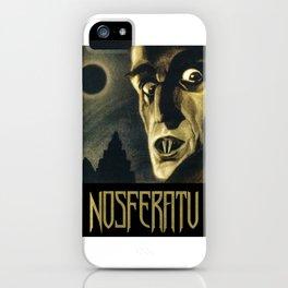 Nosferatu, Vintage Horror Movie Poster iPhone Case