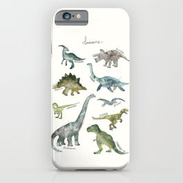 Dinosaurs iPhone Case
