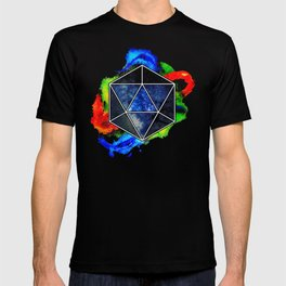 d20 Icosahedron of Imagination T-shirt