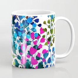 Biome, Dark Eclectic Watercolor Botanical Nature Bold Painting, Pop of Color Bohemian Illustration Coffee Mug