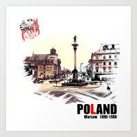 poland Art Prints featuring Poland, Warsaw 1890-1900 by viva la revolucion