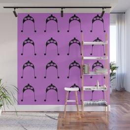 violet flower hat Wall Mural