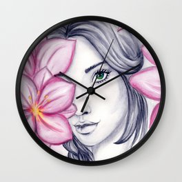 into flowers Wall Clock