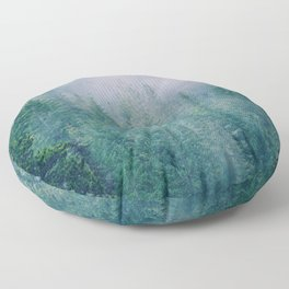 Foggy Forest in Squamish, British Columbia Floor Pillow