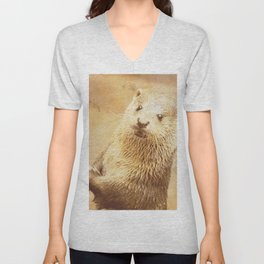Vintage Animals - Otter Unisex V-Neck