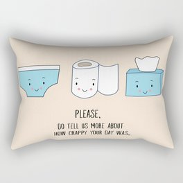 How was your day Rectangular Pillow