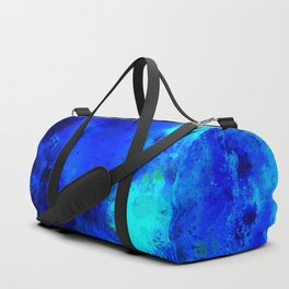psychedelic color gradient pattern splatter watercolor blue Duffle Bag
