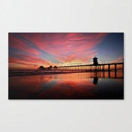 Sunset ~ Huntington Beach Pier ~ Huntington Beach Pier CA   Canvas Print