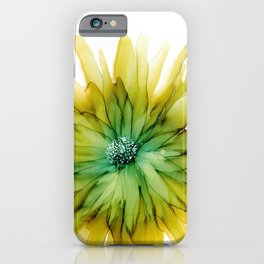Alcohol Ink - Limeade iPhone Case