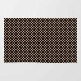 Black and Iced Coffee Polka Dots Rug