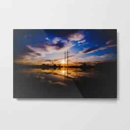 Reflection Sunset Metal Print