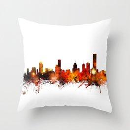 Melbourne Australia Skyline Throw Pillow