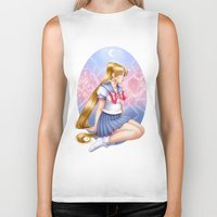 sailormoon Biker Tanks featuring Sailor moon by Roots-Love