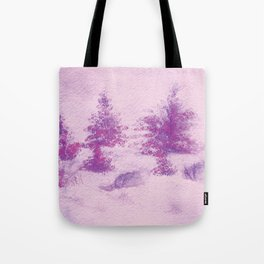 Pink Christmas Watercolor Tote Bag