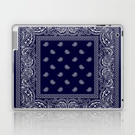 Bandana - Navy Blue - Southwestern Laptop & iPad Skin