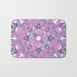 Web in pink and grey Bath Mat