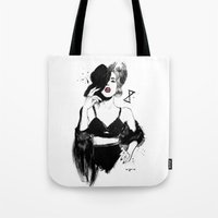 rupaul Tote Bags featuring MAX COLLECTIVE by Garry Muska