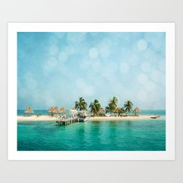 Rendezvous Caye Art Print