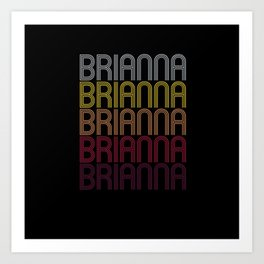 Brianna Name Gift Personalized First Name Art Print