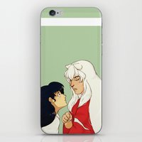 inuyasha iPhone & iPod Skins featuring Together by nico_lle