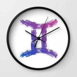 Zodiac sign Gemini Wall Clock
