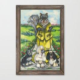 Dame Squirrel Canvas Print