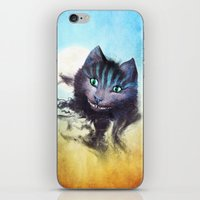 cheshire cat iPhone & iPod Skins featuring Cheshire Cat by Diogo Verissimo