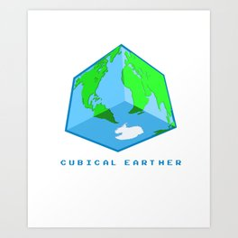 Cubical Earther Art Print