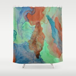 Inks through Shower Curtain