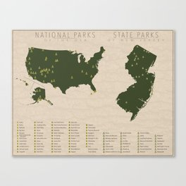 US National Parks - New Jersey Canvas Print