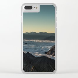 Tumultuous Waters Clear iPhone Case